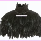 Kate Moss Topshop Real Feather Cape with Collar One-Size New Rare HTF