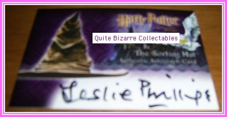 Harry Potter PS SS Leslie Phillips Sorting Hat Auto HTF