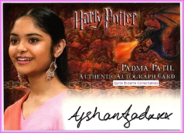 Padma Patil Afshan Azad Harry Potter GoF Goblet of Fire Auto Autograph Card