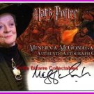 Prof Minerva McGonagall Maggie Smith Auto Autograph MM Harry Potter Goblet Fire