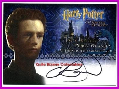 Harry Potter CoS Chamber of Secrets Chris Rankin Percy Weasley Auto Card