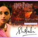 Parvati Patil Shefali Chowdhury Harry Potter GoF Goblet Fire Auto Autograph Card