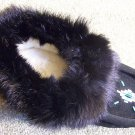 Tecumseh Moccasin Slippers Size 10 Black