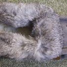 Tecumseh Moccasin Slippers Size 4 Charcoal