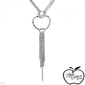 AUTHENTIC CRYSTAL APPLE BOTTOMS NECKLACE. DESIGNER