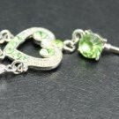 **EXOTIC PINK and GREEN heart BELLY RING
