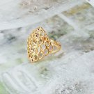 VERY Pretty 9K Yellow GOLD Layered Ring *size 7.5*