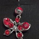 **FIERY RED BUTTERFLY BELLY PIERCING 14G