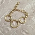 **10K GOLD Clad Triple Ring Bracelet