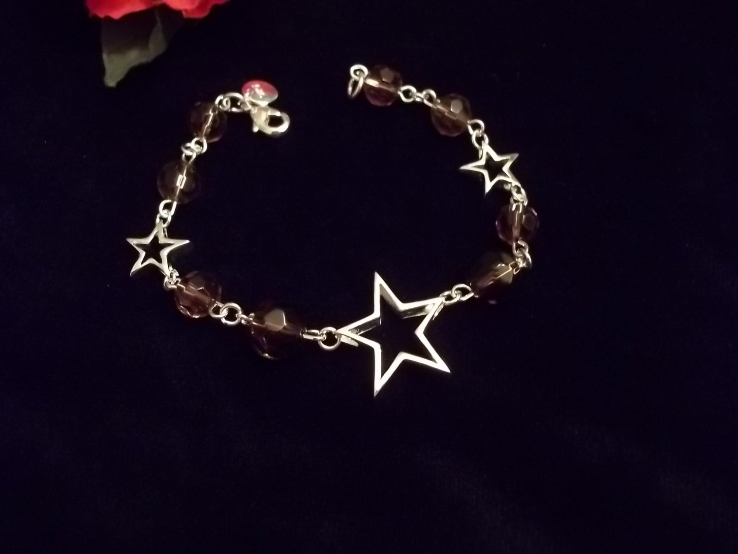 925 Silver Floating Stars and Crystal beads