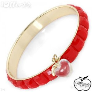 AUTHENTIC CRYSTAL APPLE BOTTOMS BANGLE BRACELET