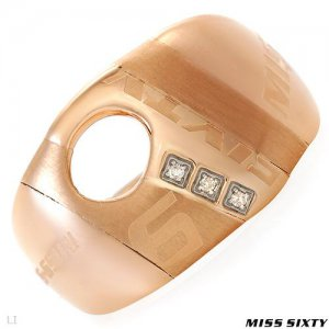 **MISS SIXTY ROSE GOLD DIAMOND RING SIZE 6