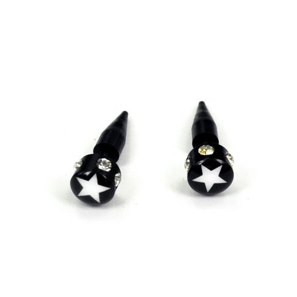 SPIKE STAR and Rhinestone FAKE/CHEATER EAR NAIL