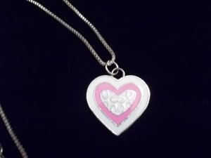 Beautiful Pink and White Heart Necklace