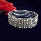 Elegant 5 Row Rhinestone Stretch Bracelet