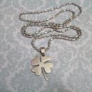 Lucky Shamrock Stainless Steel Necklace