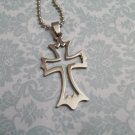 Stainless Steel Gothic Cross Pendant Necklace