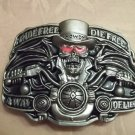 """Ride Free Die Free"" Motorcycle Belt Buckle"