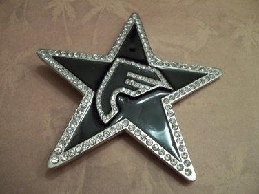 LARGE RHINESTONE STAR BELT BUCKLE