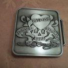 LOVE KILLS SLOWLY SKULL BELT BUCKLE