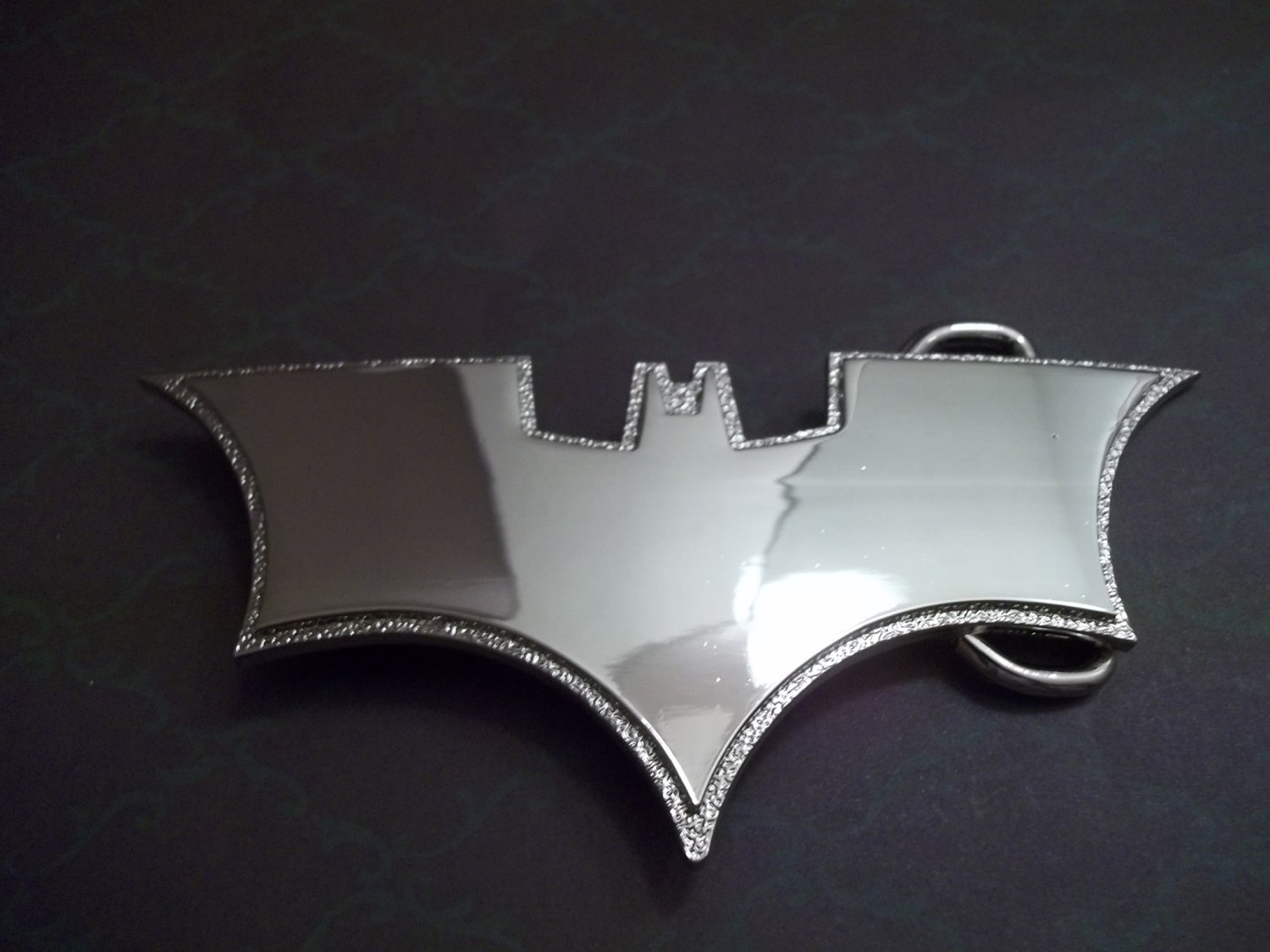 SILVER BAT WINGS BELT BUCKLE