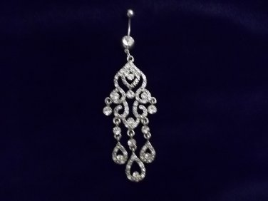 Gorgeous Harem Style  Crystal Belly Ring