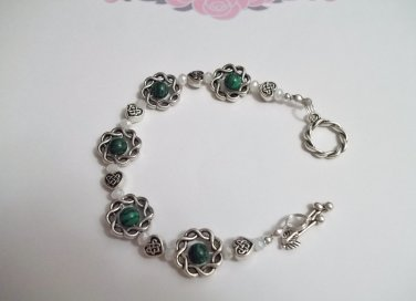 Celtic Malachite Toggle Bracelet