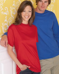 SixColor Print - Double Sided, Size XL, 50/50 Blend, 5.6 oz, ANY color shirt