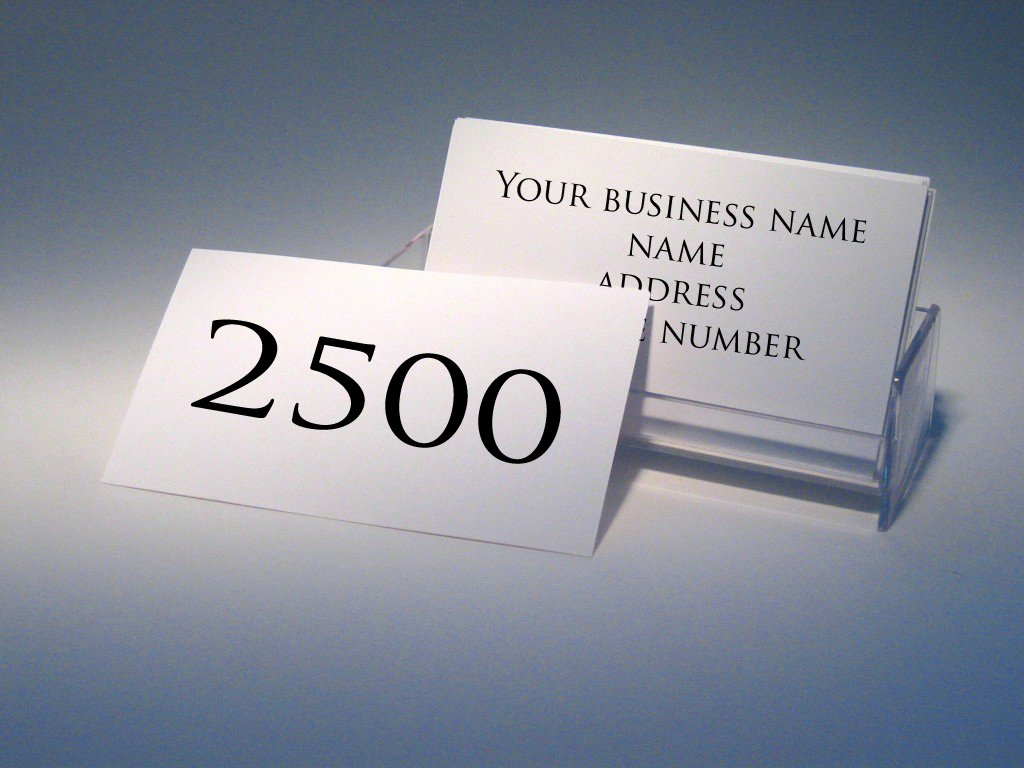 14pt Business Cards - QTY 2500 - Glossy, Single Sided