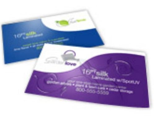 """2"""" X 3.5"""" 16PT Silk Laminated Business Cards - Double Sided - QTY 500"""