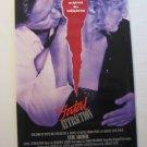 Fatal Attraction, Genuine VHS Movie Poster, 1987