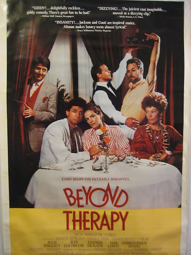 BEYOND THERAPY,DVD MOVIE POSTER,1987