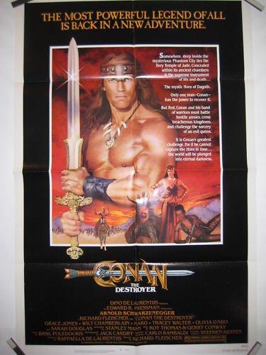 Conan The Destroyer Orig Movie Poster Schwarzenegger