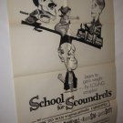 School for Scoundrels 1 Sh Movie Poster FreeShip 1960