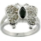 WONDERFUL CREATED DIAMOND 925 STERLING  SILVER RING