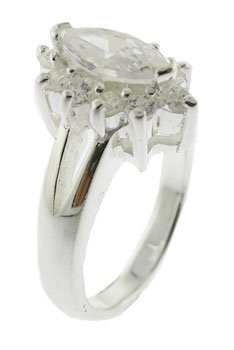 EXCELLENT CREATED DIAMOND STERLING 925 SILVER RING