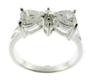 WONDERFUL CREATED DIAMOND STERLING 925 SILVER RING