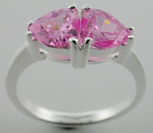 MODERN CREATED PINK Sterling 925 Silver RING