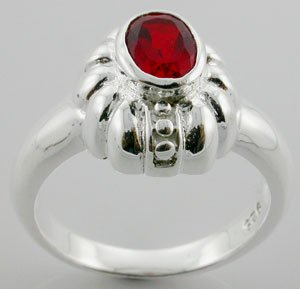 MODERN CREATED RUBY Sterling 925 Silver RING