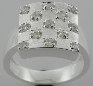 Handsome Created  Diamond 925 Silver Ring