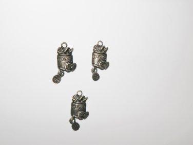 3 Pcs Bronze Cookie Jar Charms - B14793