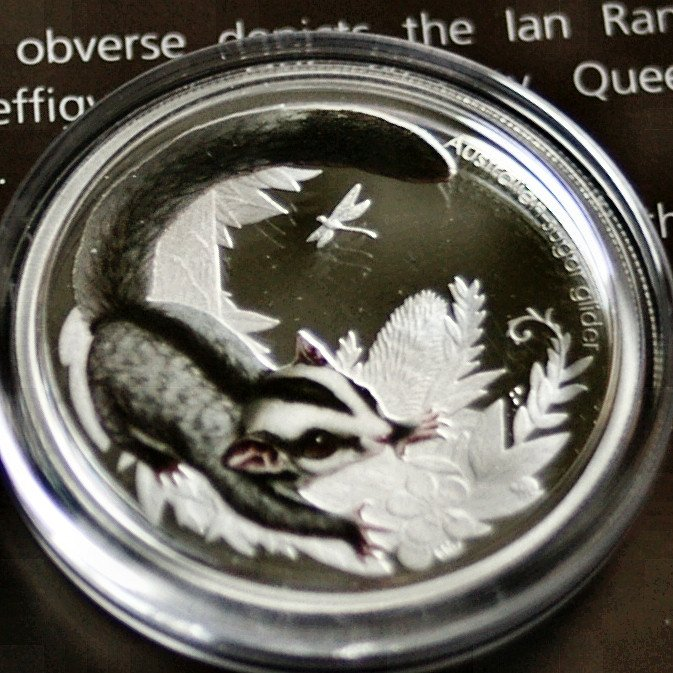Australia 2010 Bush Babies Sugar Slider 50 cents Silver Proof