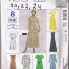 McCalls 8856 Misses Dress - Sizes 20, 22, 24 UNCUT