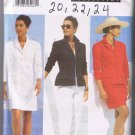 Butterick 5006 Misses' / Misses' Petite Jacket, Dress, Skirt, Pants - Sizes 20, 22, 24 -  UNCUT