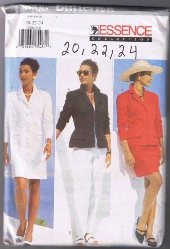 Butterick 5006 Misses' / Misses' Petite Jacket, Dress, Skirt, Pants - Sizes 20, 22, 24 -  UNCUT