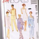 McCalls 8577 - Misses Unlined Jacket, Dress, Top, Pull-On Pants and Scarf - Sizes 20, 22, 24 - UNCUT