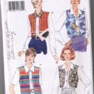 Butterick 3955 Misses Blouse with Vest Overlay - Sizes 12, 14, 16 - UNCUT Factory Folded