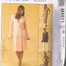 McCalls 4511 M4511 Misses Dress, Tops, Pants - Sizes 8, 10, 12, 14 - UNCUT / FACTORY FOLDED