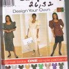 Simplicity 7621 Women's Top & Skirt - Sizes 26W - 32W - UNCUT / FACTORY FOLDED