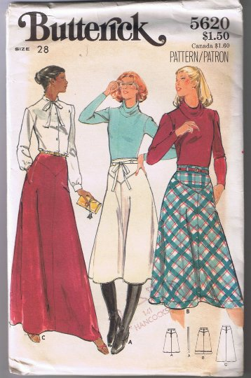 Butterick 5620 Misses Skirt Size 28 UNCUT Factory Folded